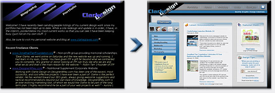 ClarkeDesign Website Redesign